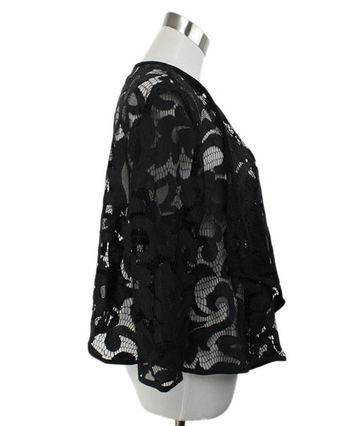 Milly Black Lace Cardigan 2