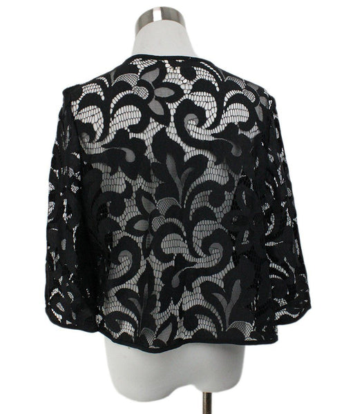 Milly Black Lace Cardigan 3