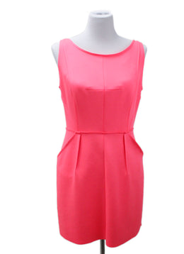 Milly Pink Hot Pink Polyester Dress