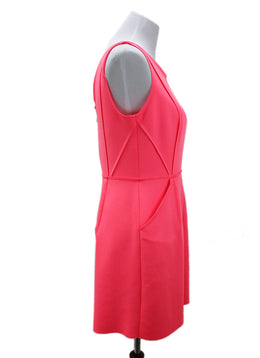 Milly Pink Hot Pink Polyester Dress 1