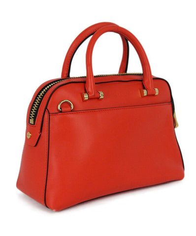 Milly orange leather satchel 1