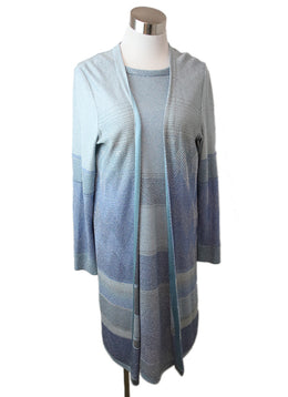 3 PC Missoni Blue Light Blue Silver Lurex Rayon 1