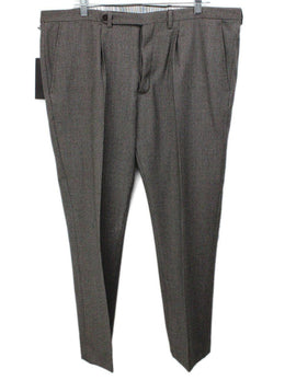 Missoni Black Beige Wool Pants men's 56