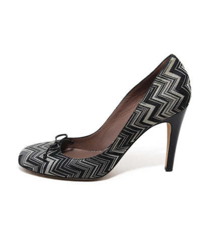 Missoni Black White Chevron Heels 1