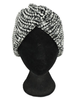 Missoni Black White Knit Wool Hat 1