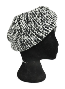 Missoni Black White Knit Wool Hat 2