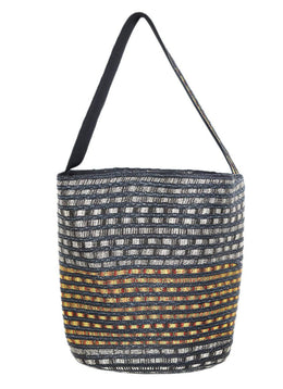 Tote Missoni Black Yellow Straw Handbag 1