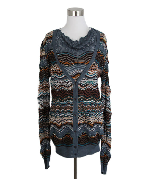 Missoni Blue Brown Sweater Set 1