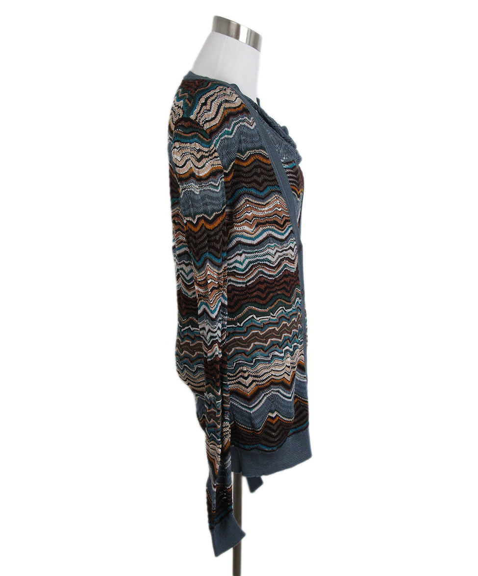 Missoni Blue Brown Sweater Set 2