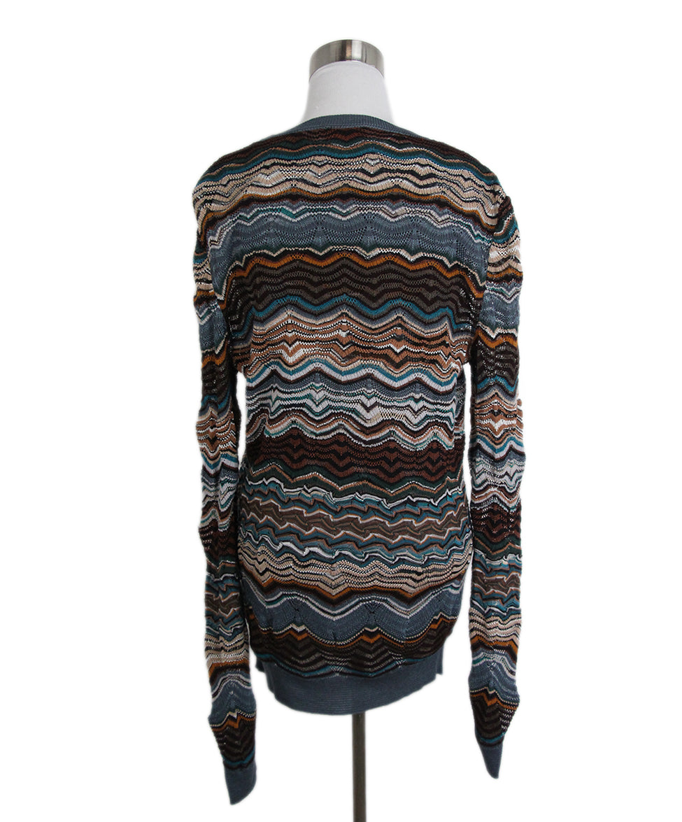 Missoni Blue Brown Sweater Set 3