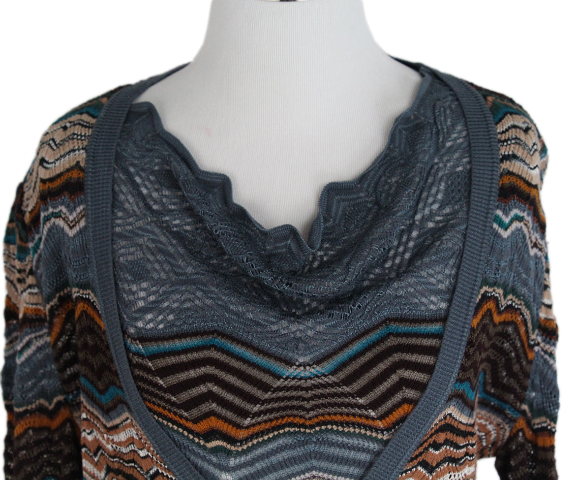 Missoni Blue Brown Sweater Set 8
