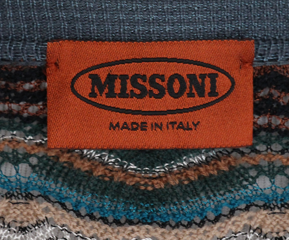 Missoni Blue Brown Sweater Set 7