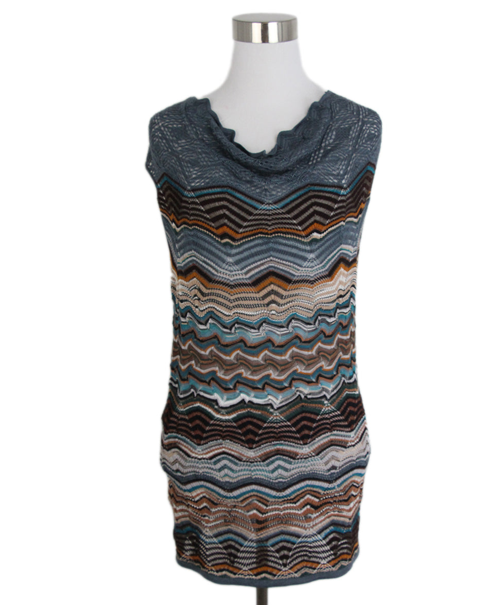 Missoni Blue Brown Sweater Set 4