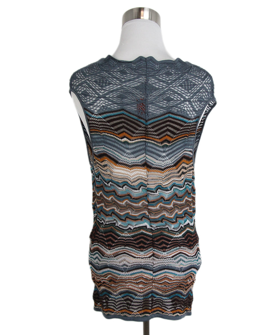 Missoni Blue Brown Sweater Set 6