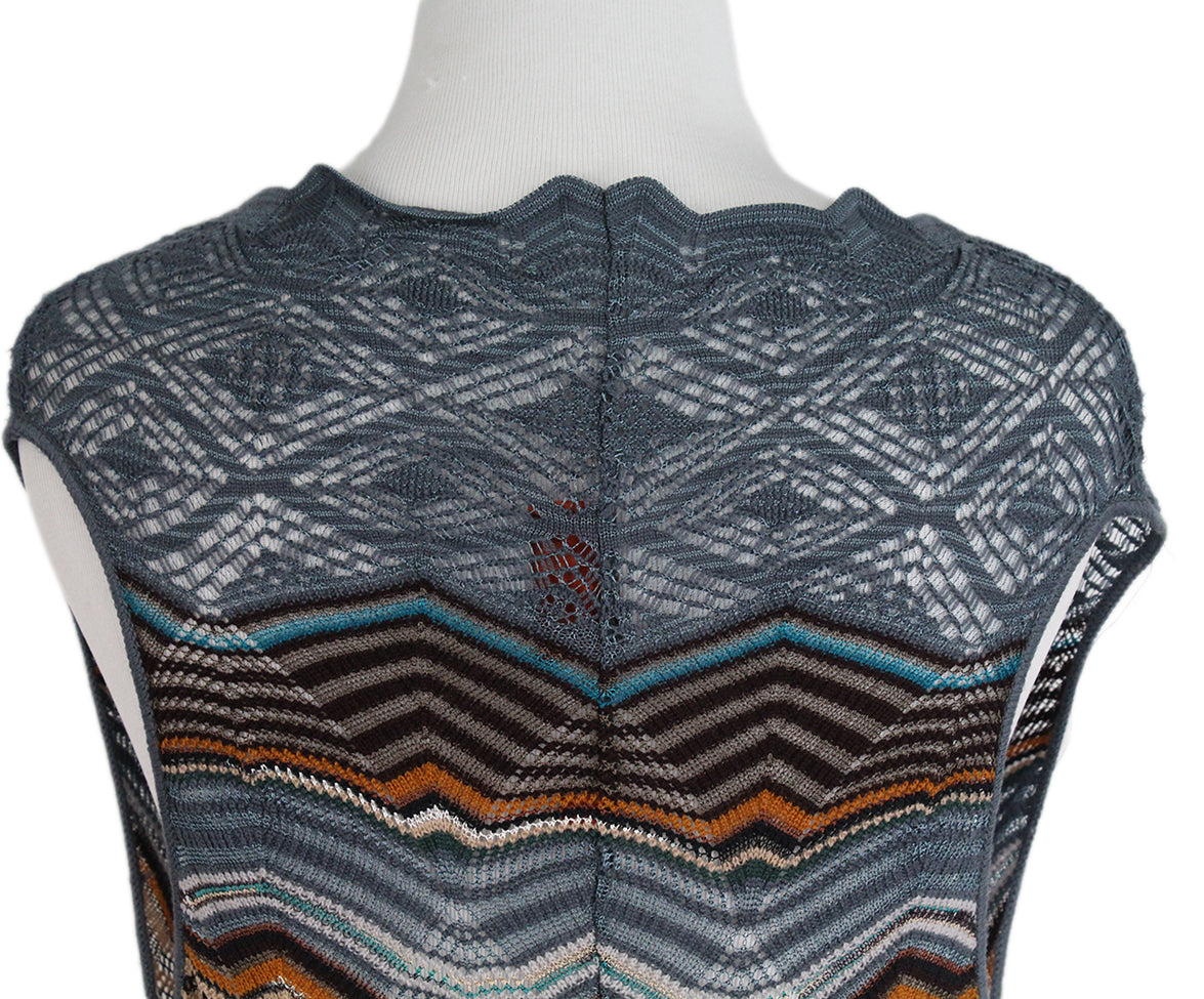 Missoni Blue Brown Sweater Set 10