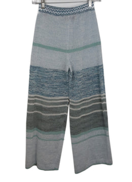 Missoni Blue Knit Cotton Pants 1