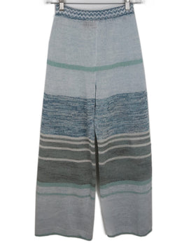 Missoni Blue Knit Cotton Pants 2