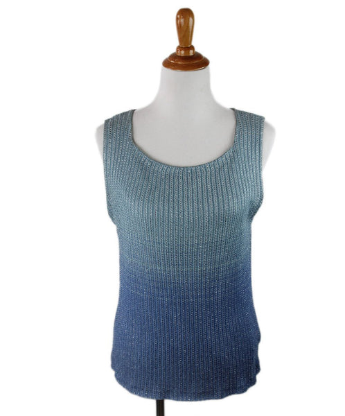 Missoni Blue Silver Top Sz 8