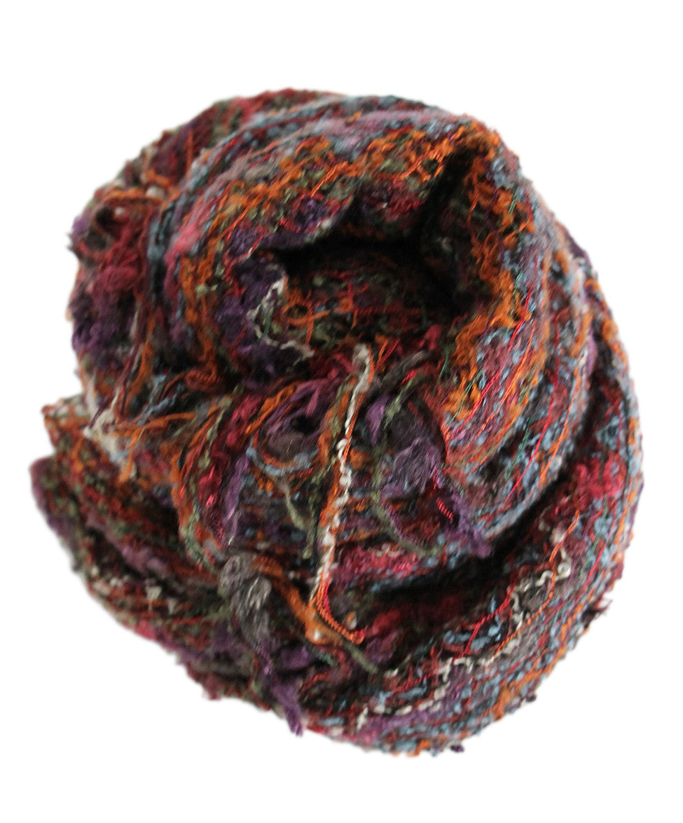 M Missoni Brown Rust Purple Rayon Scarf - Michael's Consignment NYC  - 1