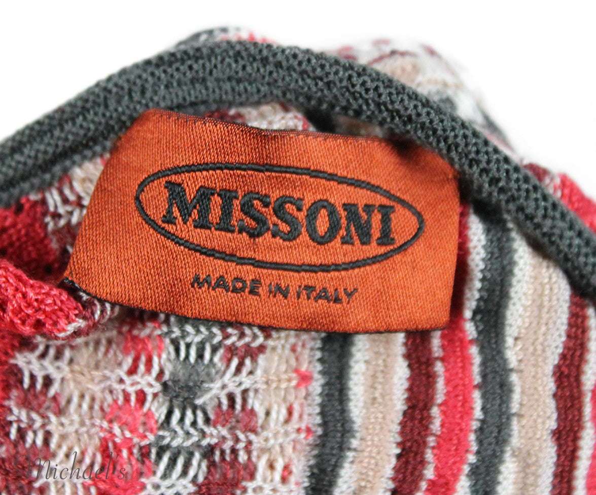 Missoni Burgundy Grey Coral Knit Sweater Sz 2 - Michael's Consignment NYC  - 6