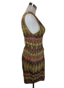 Missoni Jumpsuit Black Yellow Pink Viscose Knit Suit 2