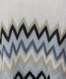 Missoni Neutral Peach Chevron Knit Detail Poncho 4