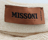 Missoni Neutral Peach Chevron Knit Detail Poncho 3