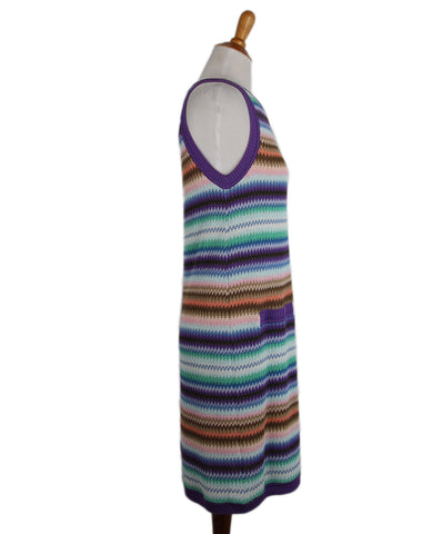 Missoni Purple Blue Brown Dress 1