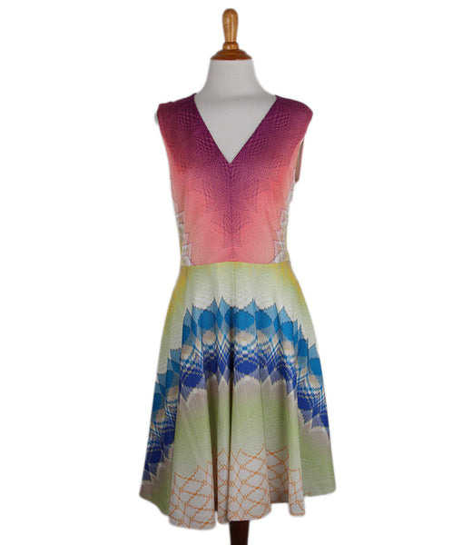 Missoni Purple Peach Lime Knit Dress 1