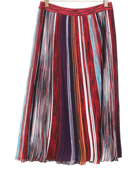 Missoni Red Purple Striped Skirt