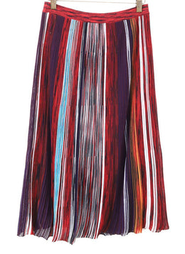 Missoni Red Purple Striped Skirt 1