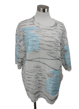 Missoni White and Blue Knit Cotton Top 1