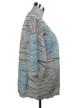 Missoni White and Blue Knit Cotton Top 2