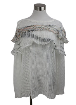 Missoni White Black Knit Top 1