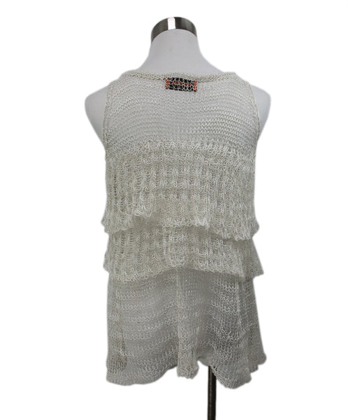 Missoni White Silver Cotton Knit Top 3