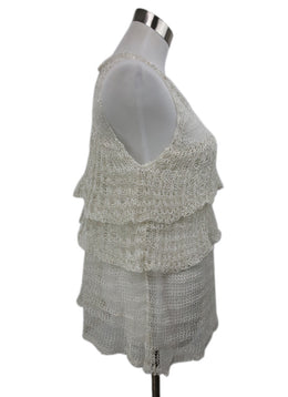 Missoni White Silver Cotton Knit Top 2