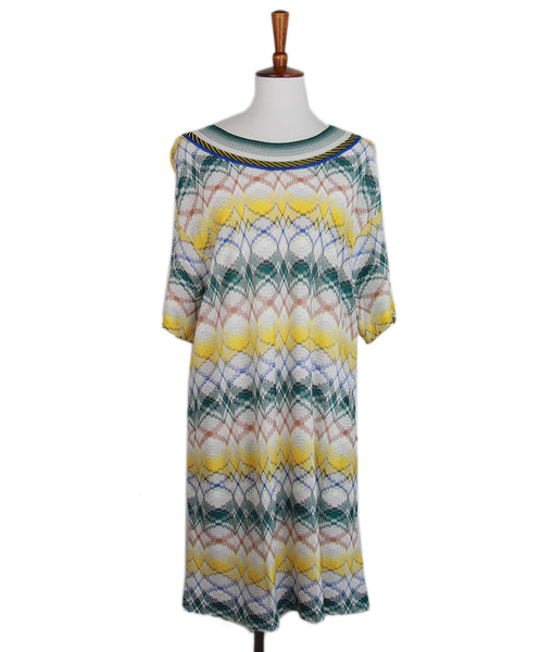 Missoni White Yellow Blue Cover Up dress 1