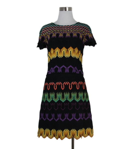 Missoni black purple yellow dress 1