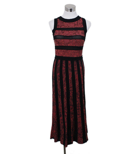 Missoni Black Red Knit Dress