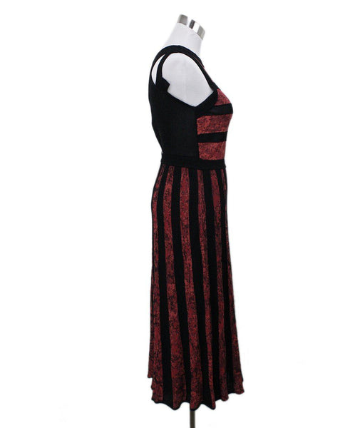 Missoni Black Red Knit Dress 1