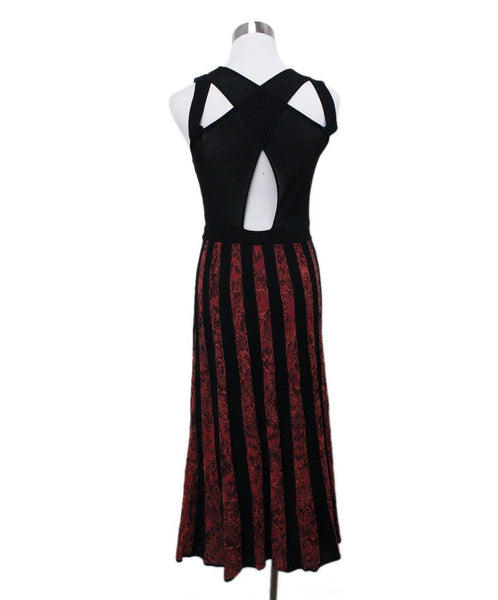 Missoni Black Red Knit Dress 2