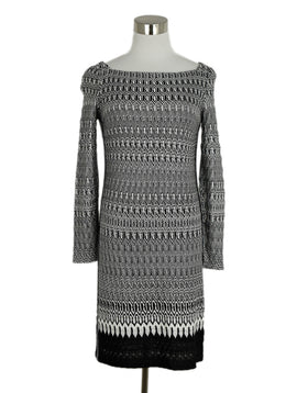 Missoni Black White Viscose Knit Dress 1