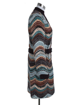 Missoni Brown Teal Burgundy Wool Sweater 2