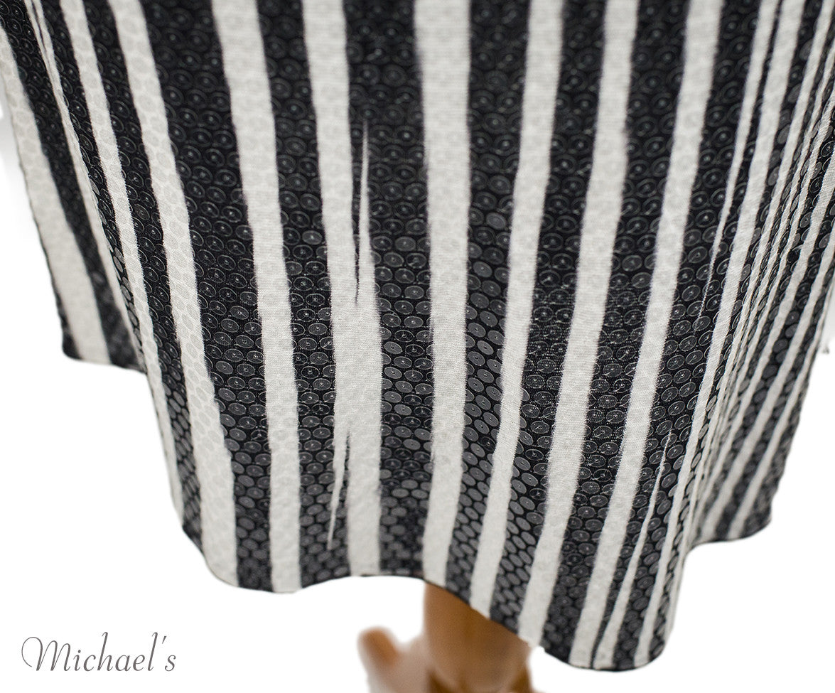 Missoni Black White Stripe Sequin Dress Sz 44 - Michael's Consignment NYC  - 6