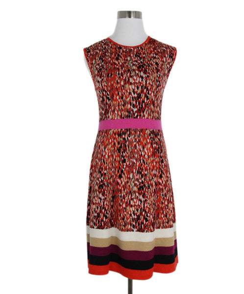 Missoni Orange Black Wool Rayon Dress 1