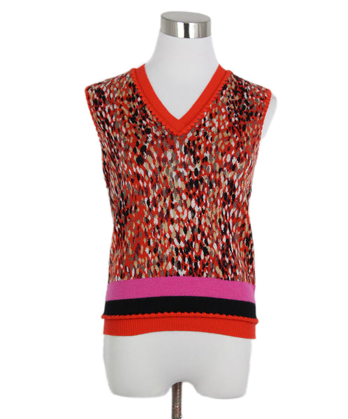 Missoni Orange Black Wool Top 1