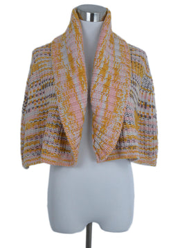 Missoni Orange Pink Cableknit Cashmere Sweater Cardigan 1