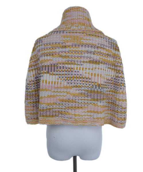 Missoni Orange Pink Cableknit Cashmere Sweater Cardigan 3