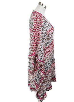 Cover-up Missoni Pink White Print Viscose Beachwear 2