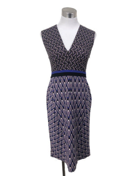 Missoni Size 2 Purple Black Knit Dress